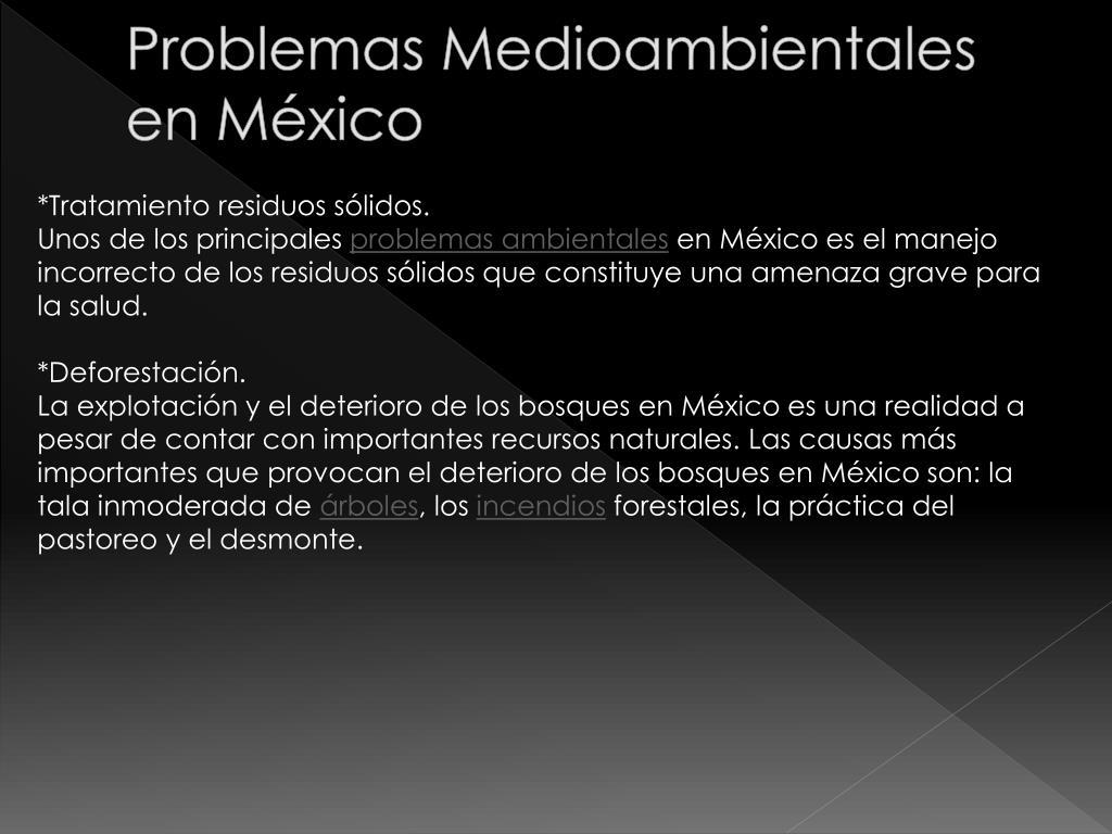 Problemas Medioambientales en México