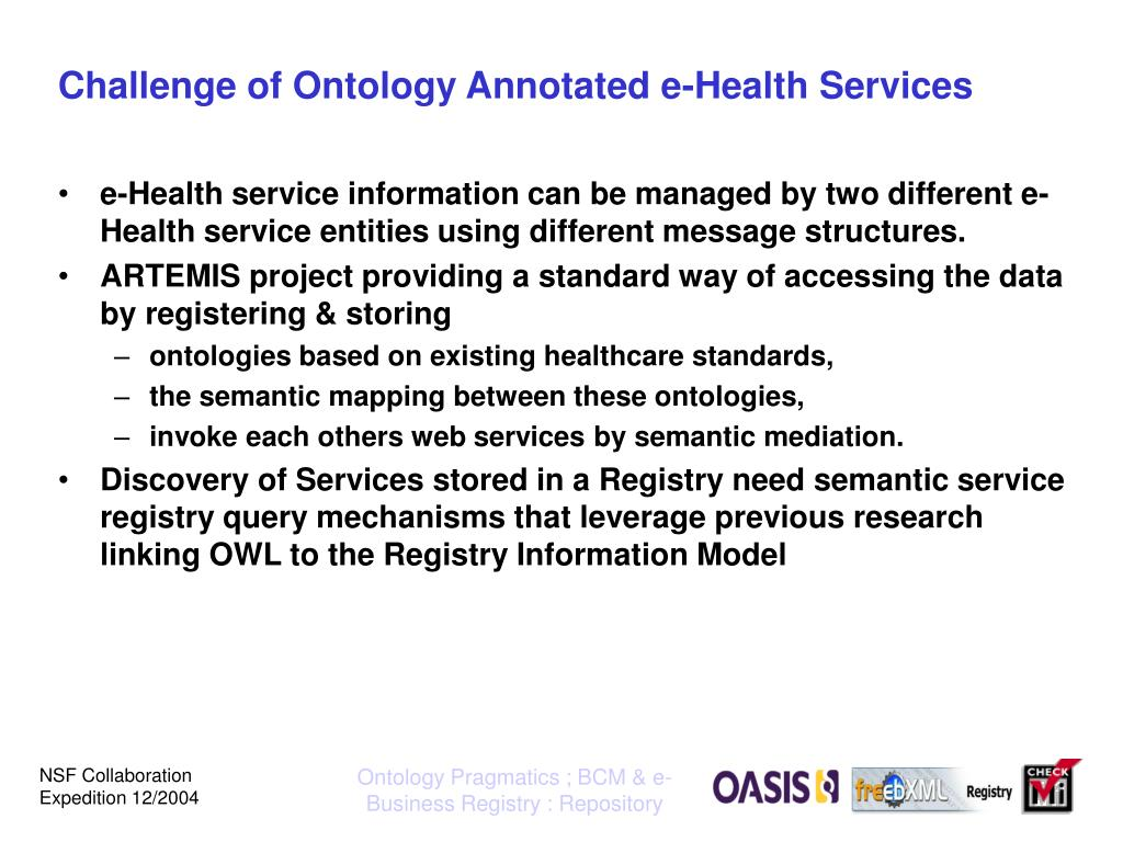 Challenge of Ontology Annotated e-Health Services