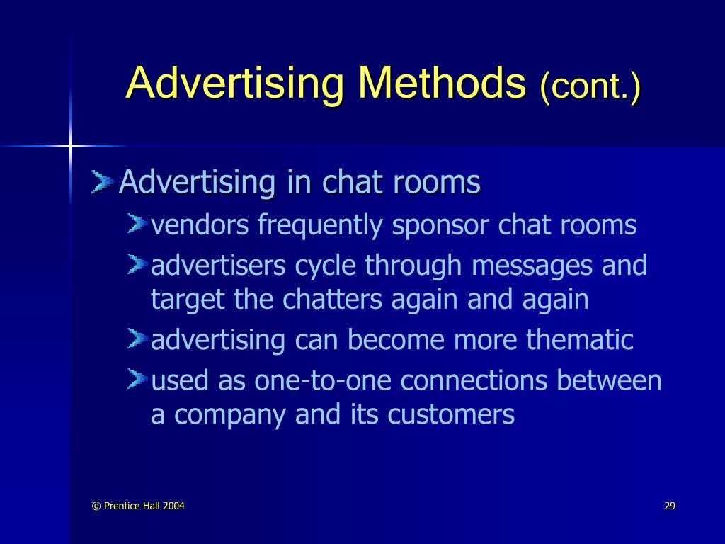 Advertising Methods