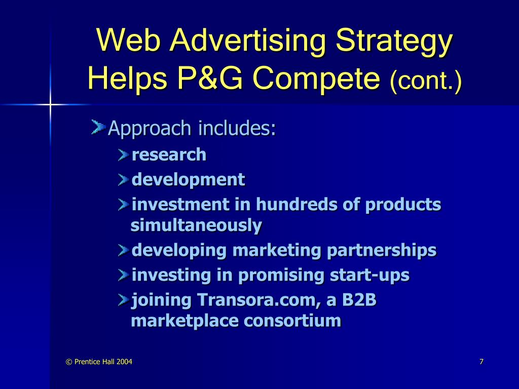 Web Advertising Strategy Helps P&G Compete
