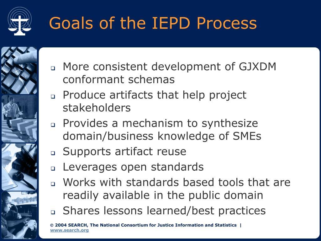 Goals of the IEPD Process