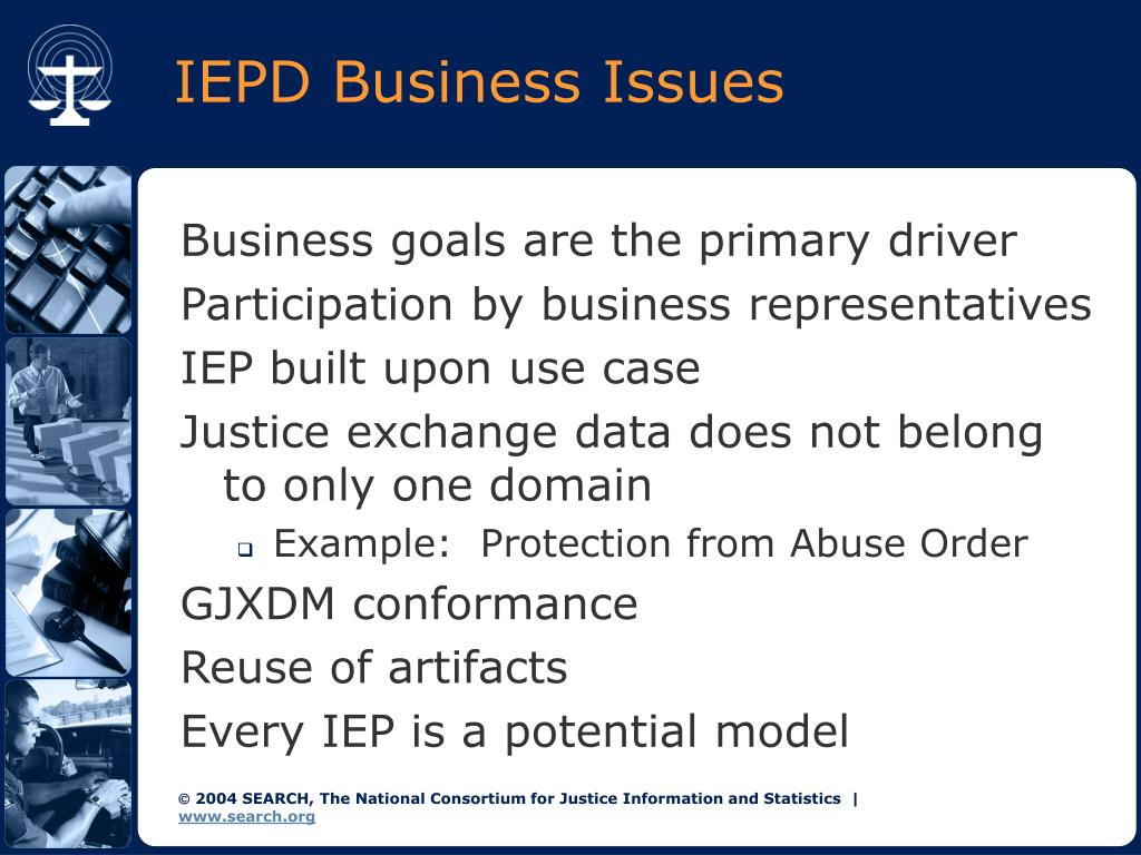 IEPD Business Issues