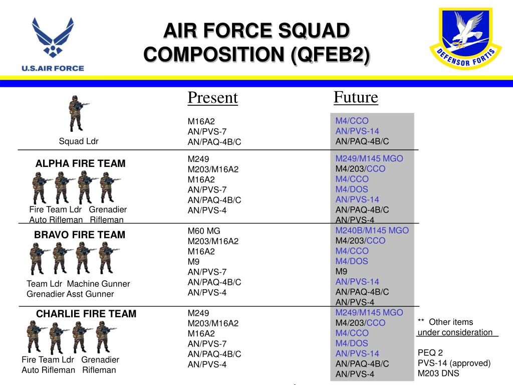 AIR FORCE SQUAD