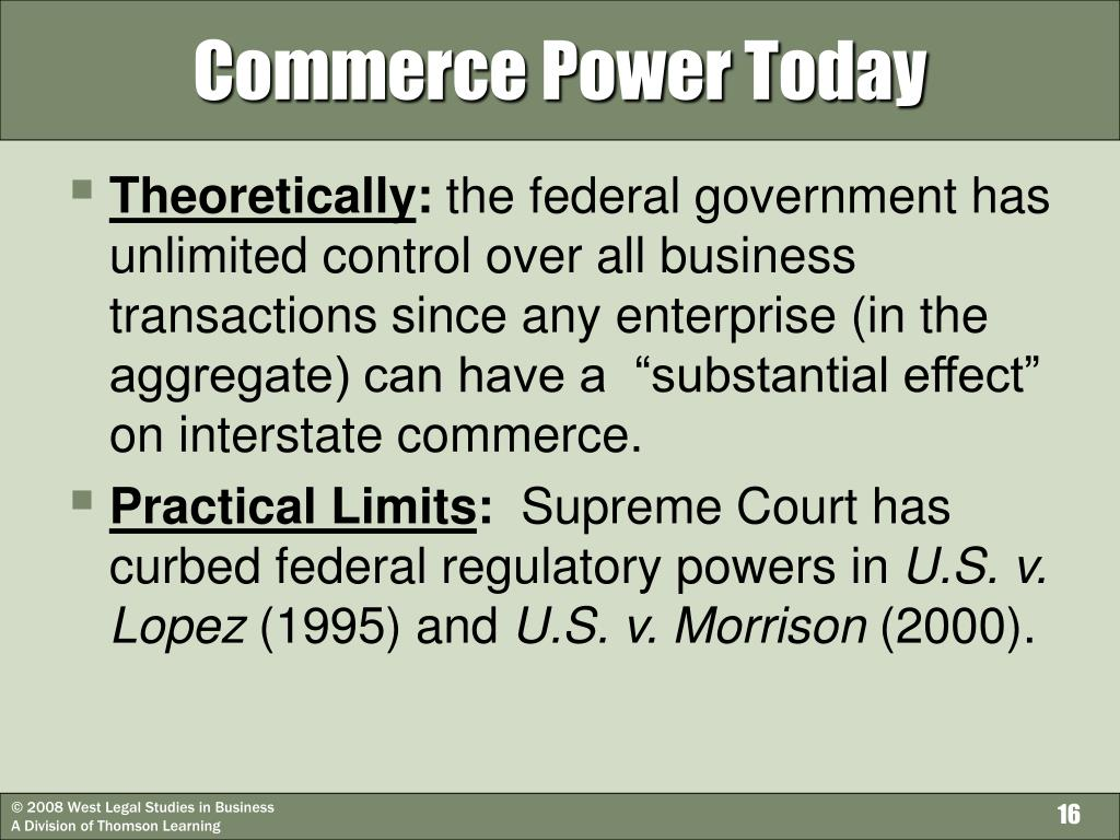 Commerce Power Today