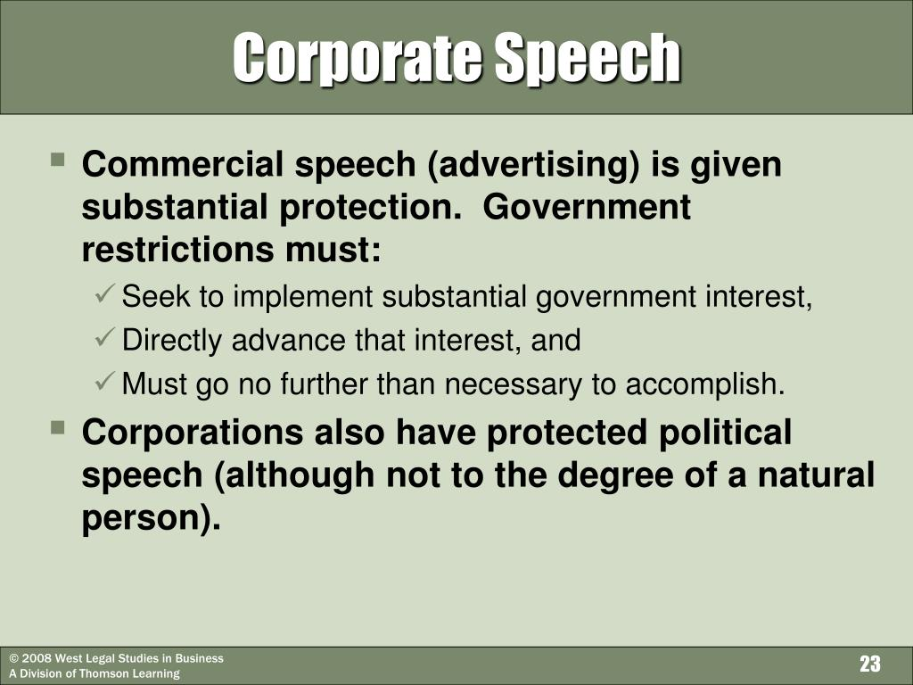 Corporate Speech