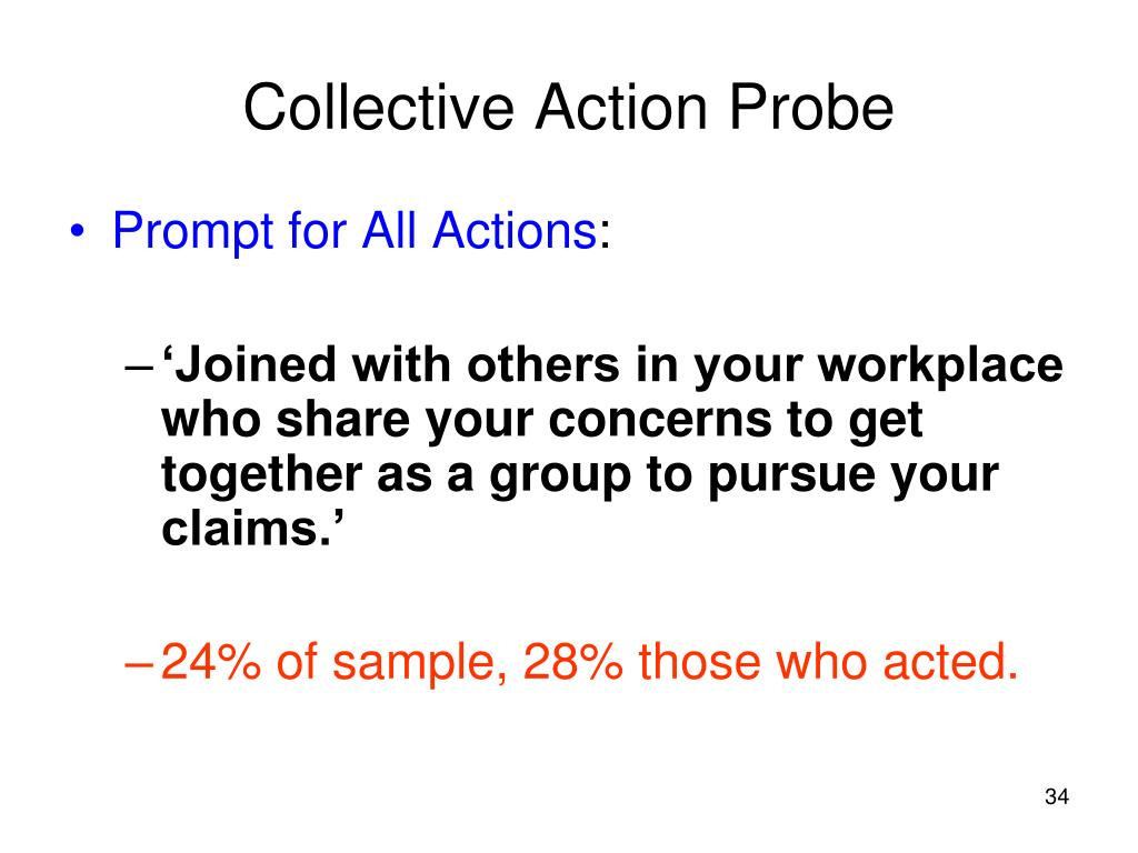 Collective Action Probe