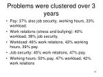 problems were clustered over 3 years