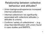 relationship between collective behaviour and attitudes
