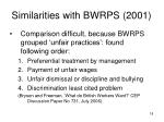 similarities with bwrps 2001