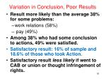 variation in conclusion poor results