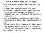 what are insights for unions