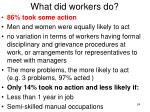 what did workers do
