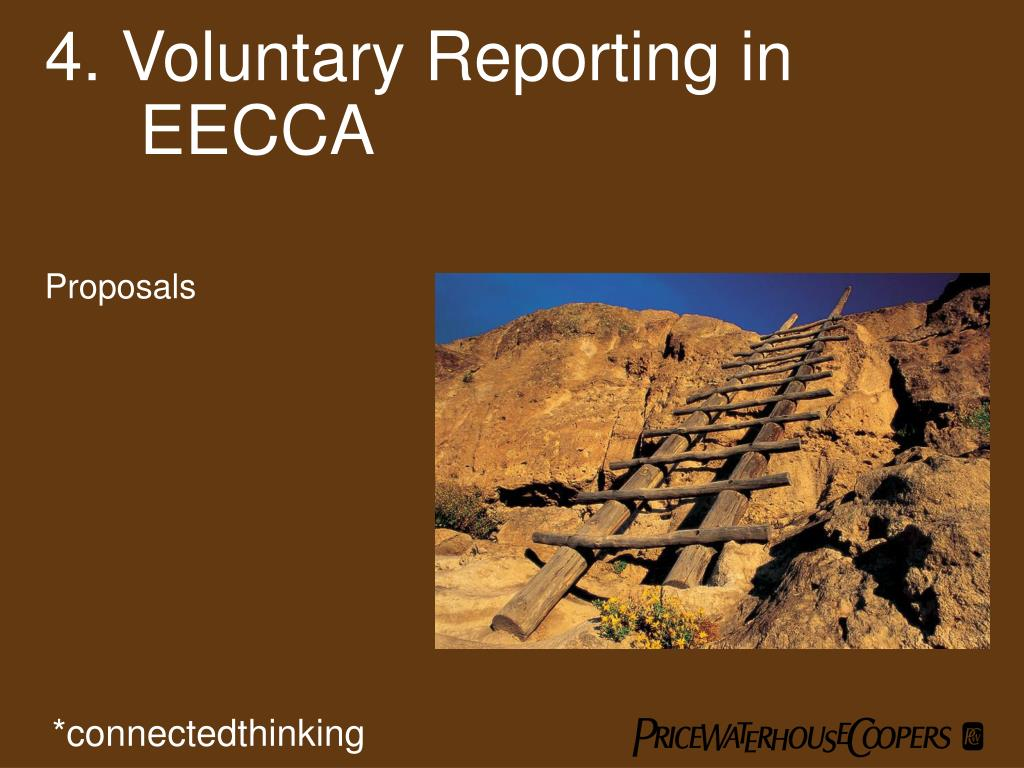 4. Voluntary Reporting in