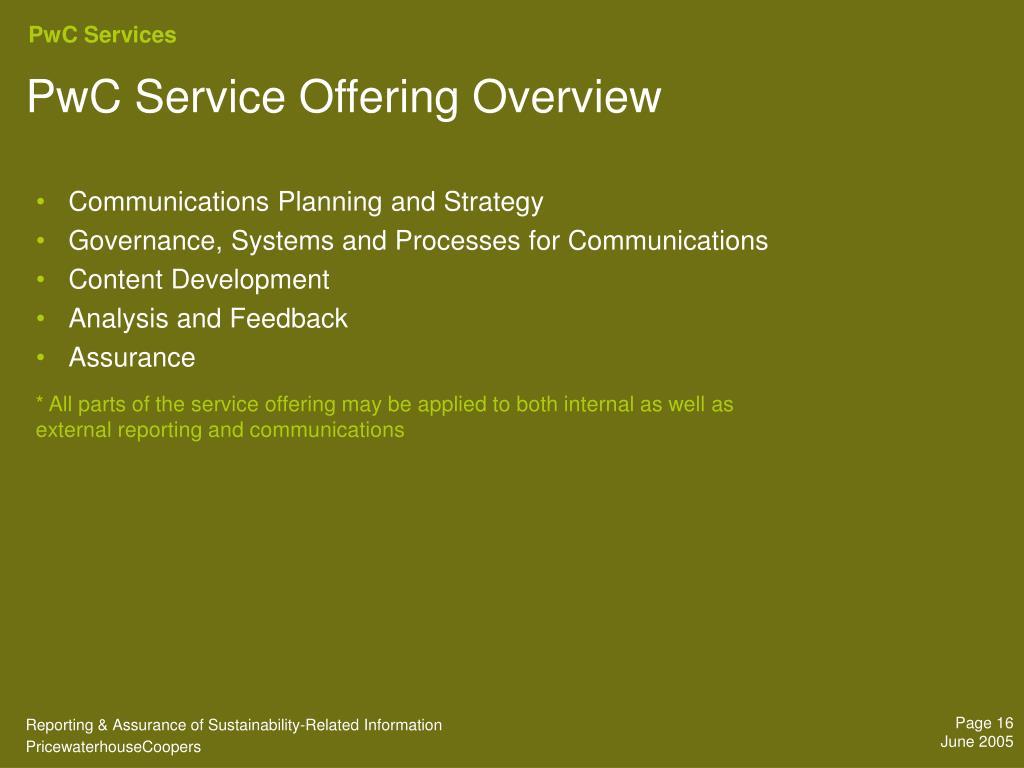 PwC Services