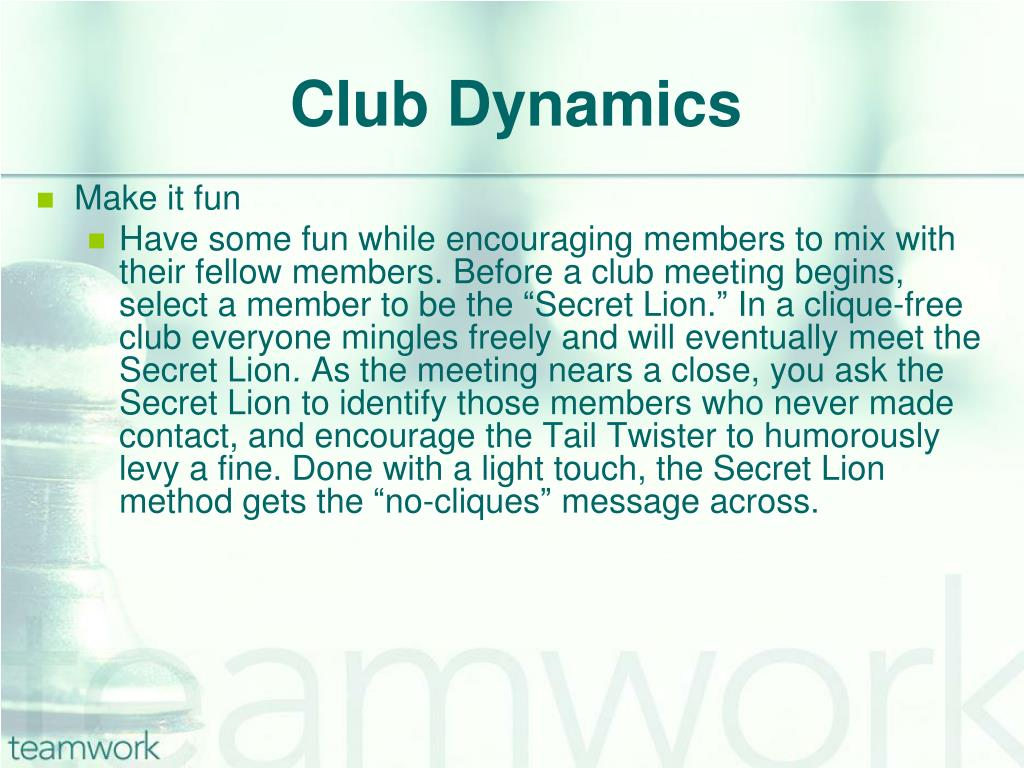 Club Dynamics