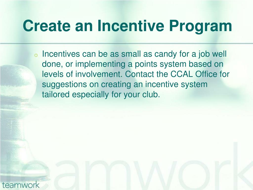 Create an Incentive Program