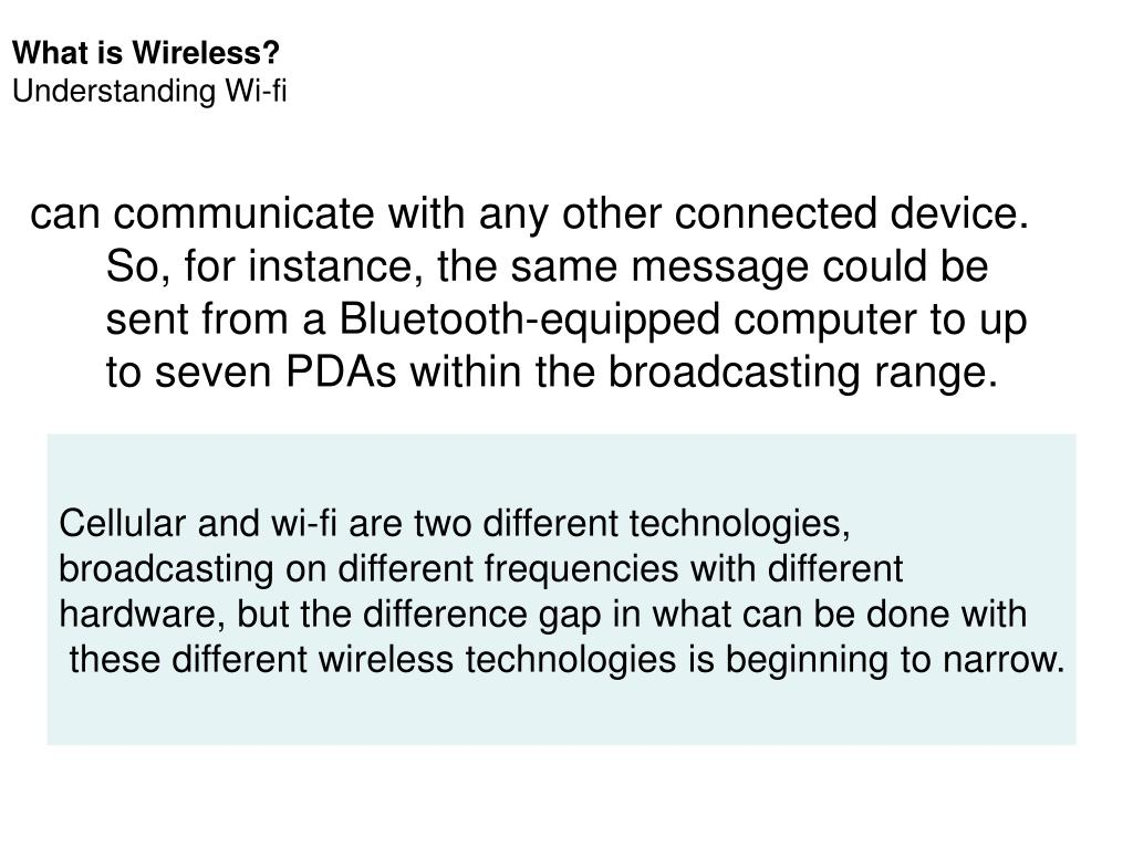 What is Wireless?