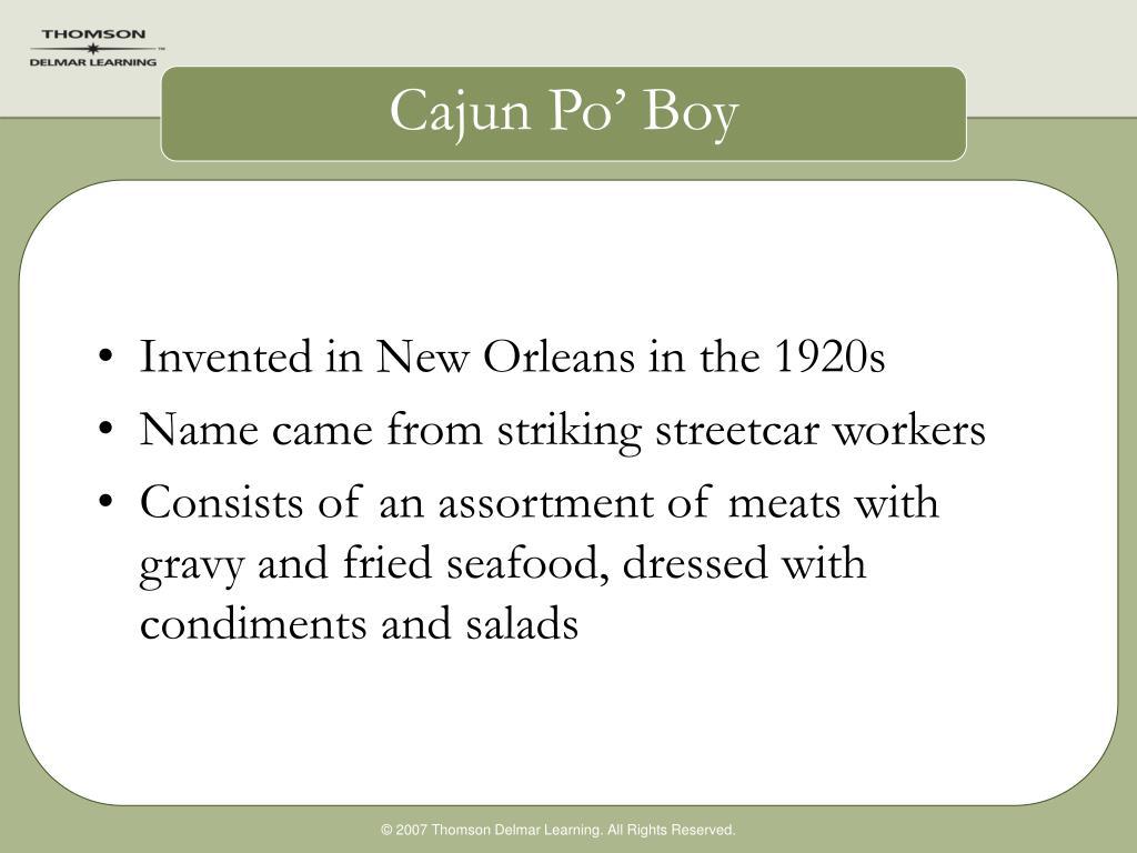 Cajun Po' Boy