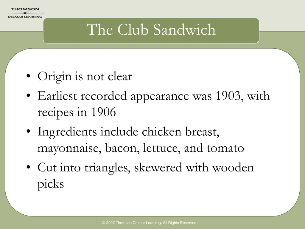 The Club Sandwich