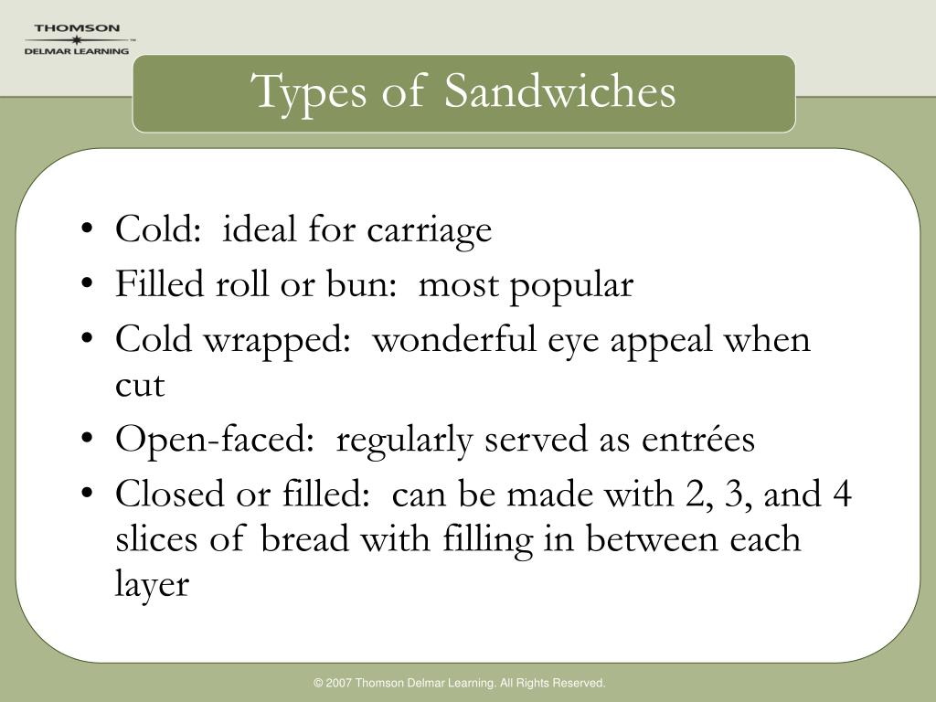 Types of Sandwiches
