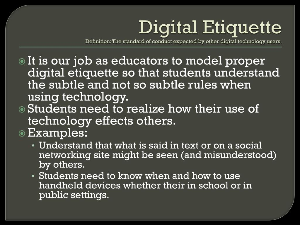 Digital etiquette 2[1]  Digital Etiquite
