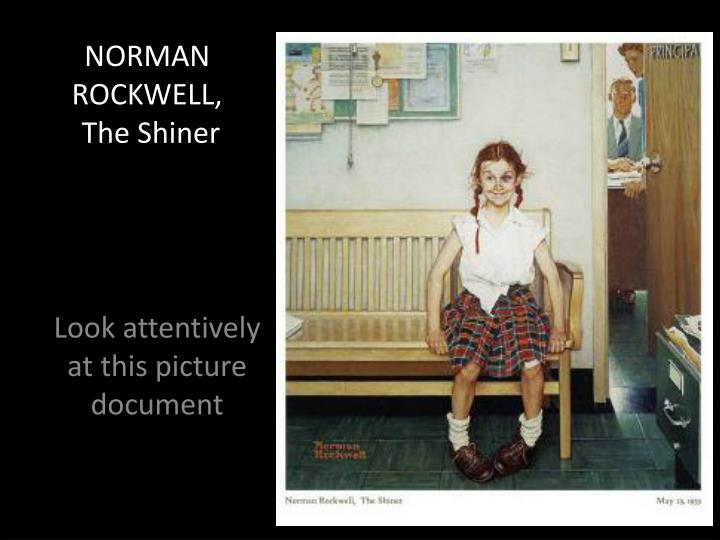 Ppt Norman Rockwell The Shiner Powerpoint Presentation
