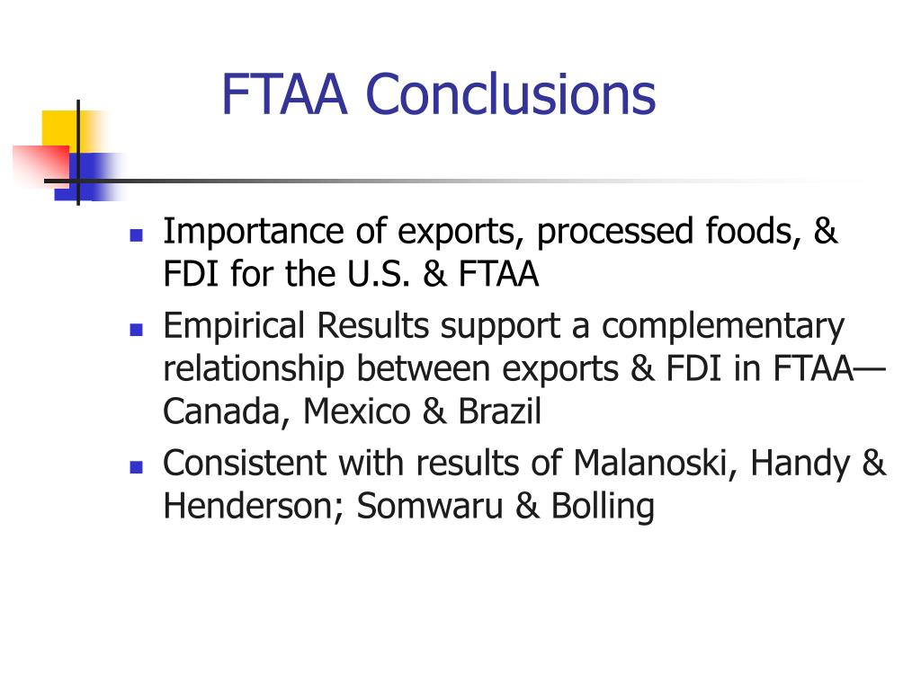 FTAA Conclusions