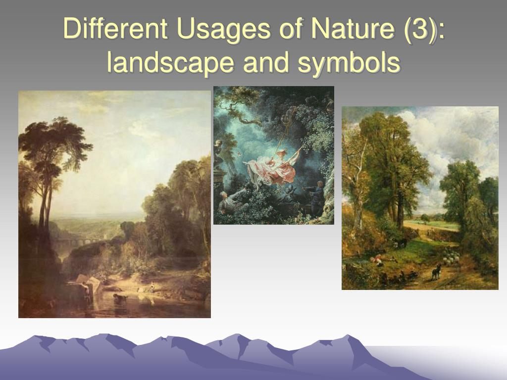 Different Usages of Nature (3):