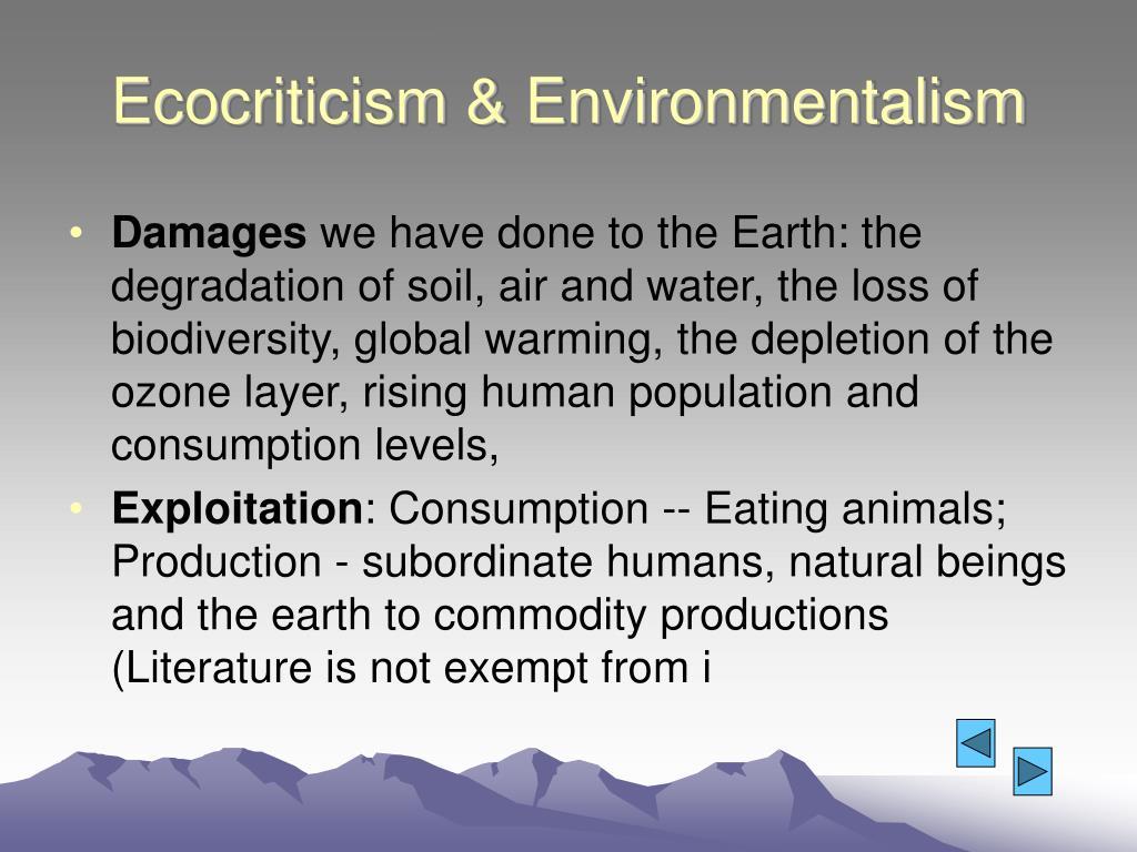 Ecocriticism & Environmentalism