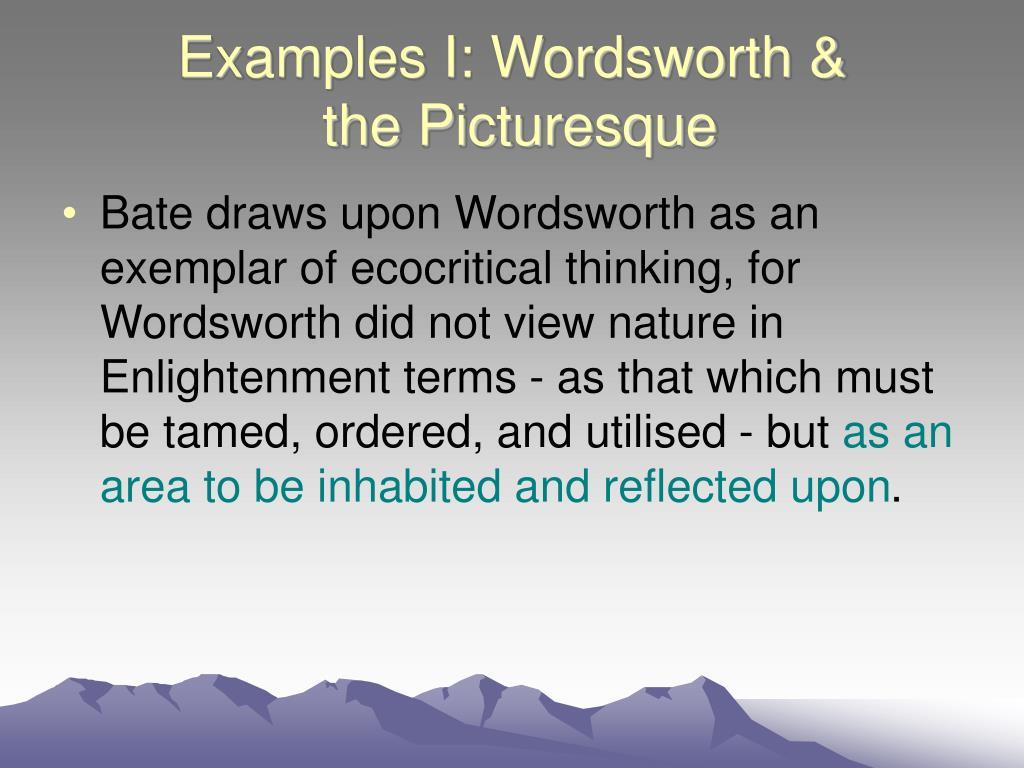 Examples I: Wordsworth &