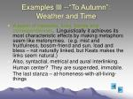 examples iii to autumn weather and time38