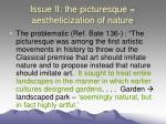 issue ii the picturesque aestheticization of nature