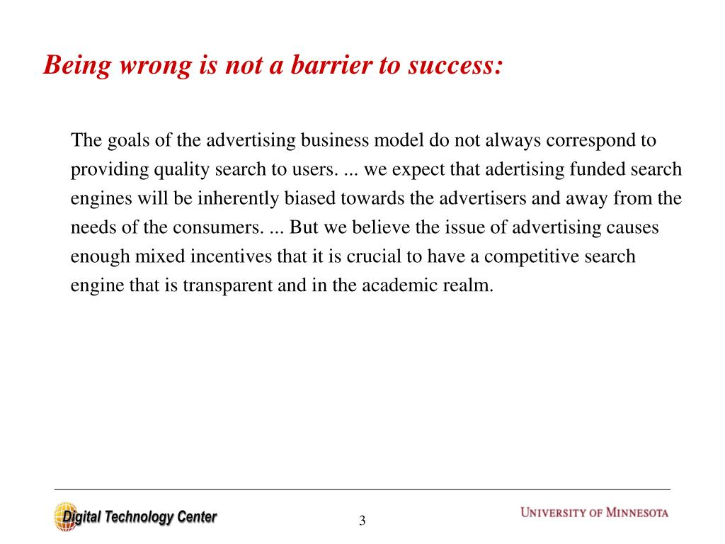 Being wrong is not a barrier to success:
