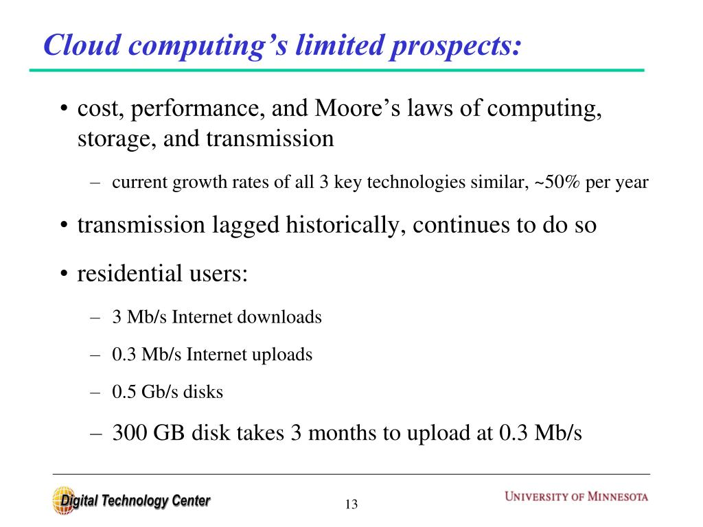 Cloud computing's limited prospects: