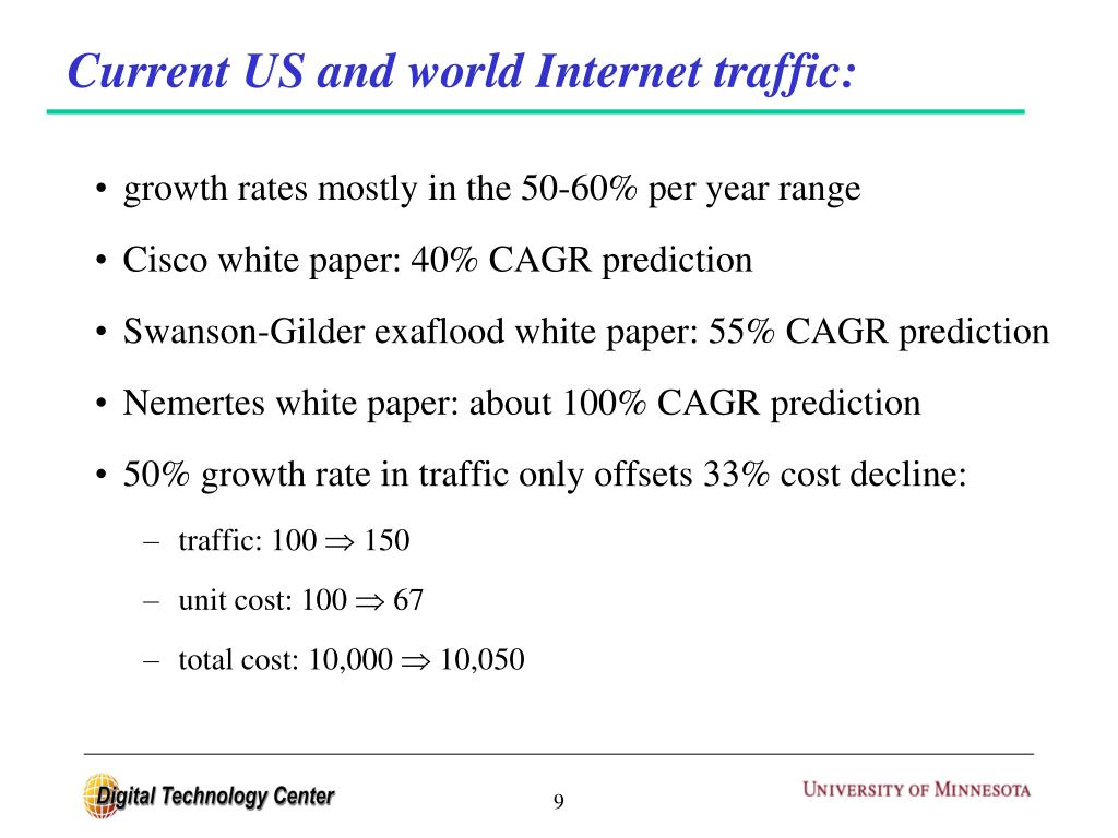 Current US and world Internet traffic: