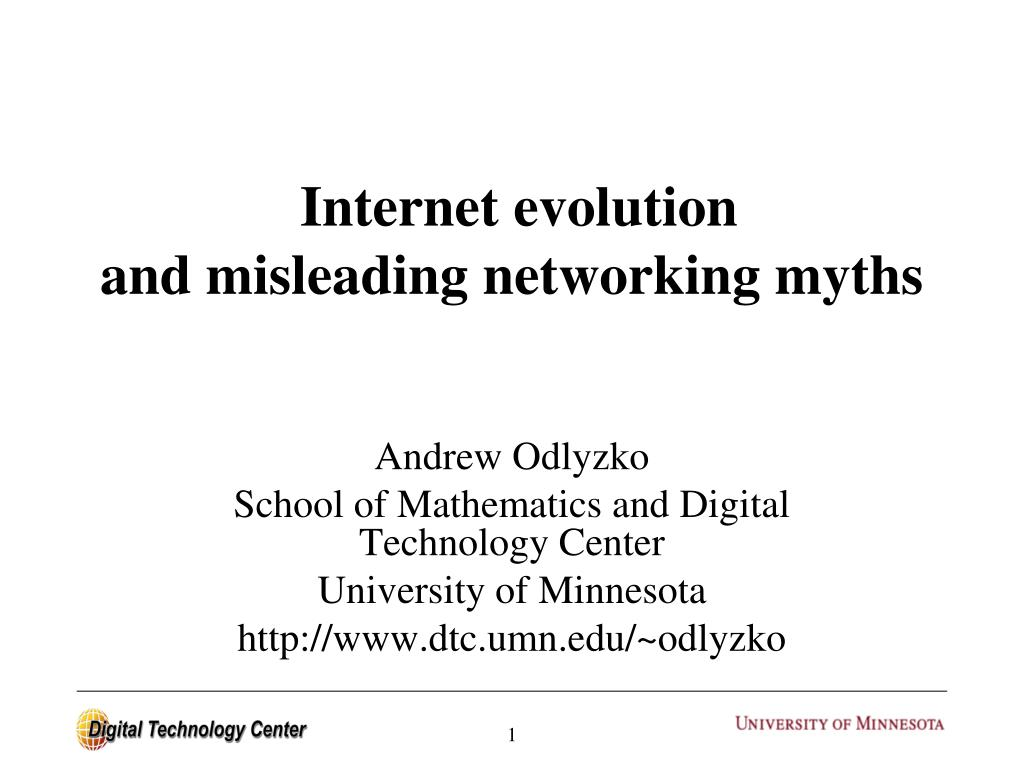 internet evolution and misleading networking myths
