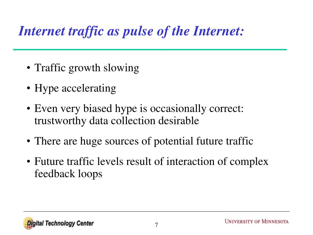 Internet traffic as pulse of the Internet: