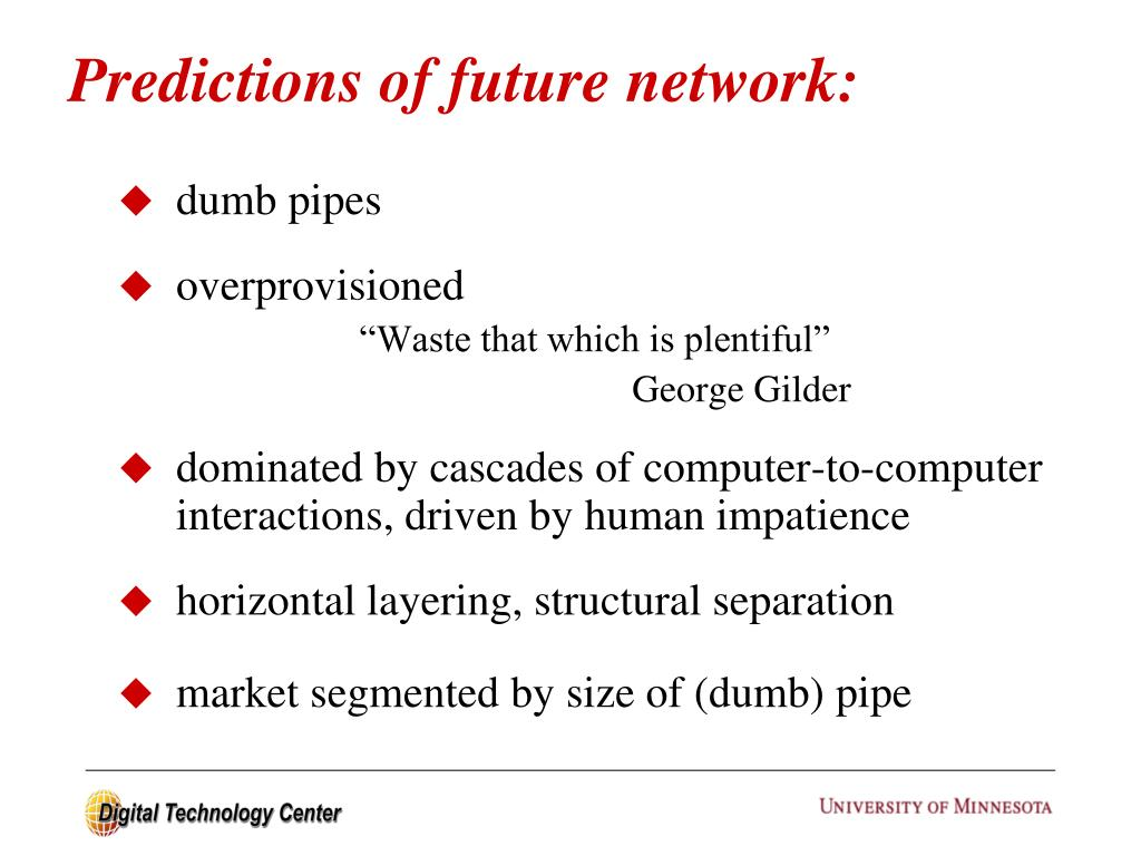 Predictions of future network:
