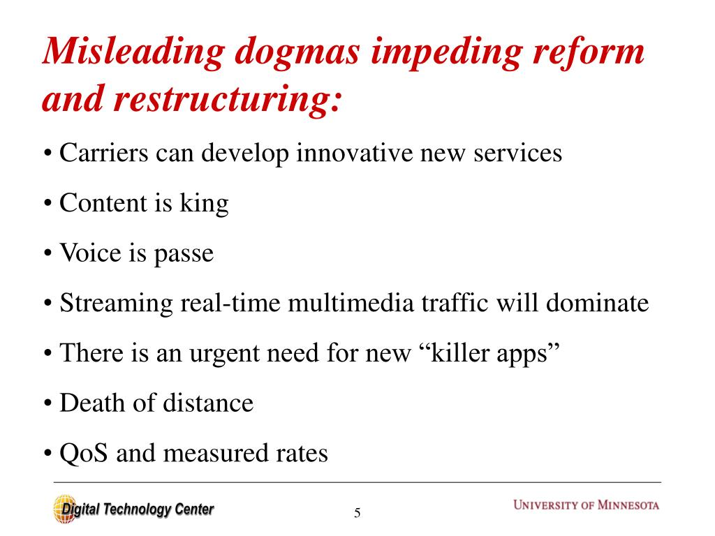 Misleading dogmas impeding reform and restructuring: