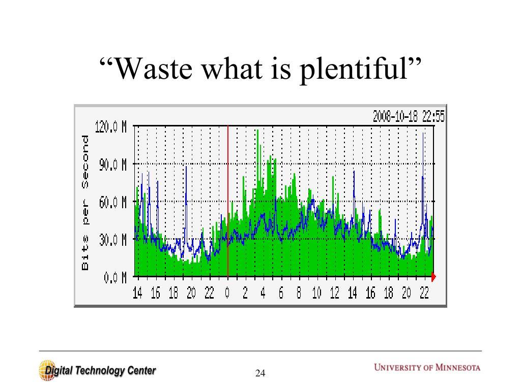 """Waste what is plentiful"""