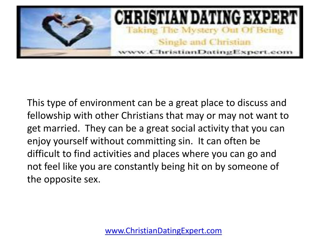 This type of environment can be a great place to discuss and fellowship with other Christians that may or may not want to get married.  They can be a great social activity that you can enjoy yourself without committing sin.  It can often be difficult to find activities and places where you can go and not feel like you are constantly being hit on by someone of the opposite sex.