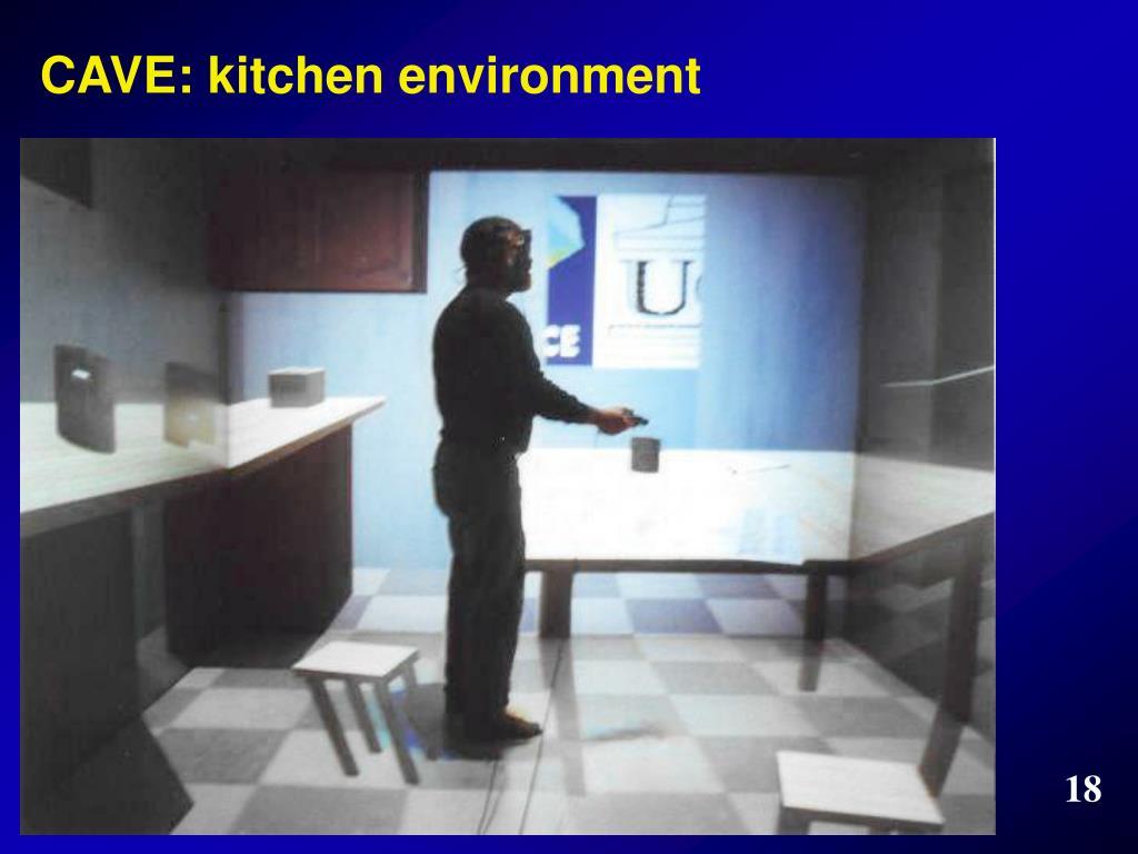 CAVE: kitchen environment