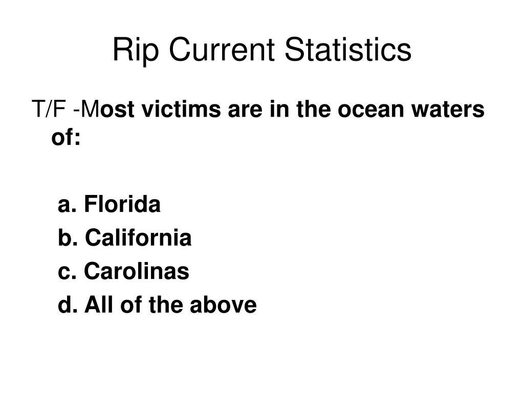 Rip Current Statistics