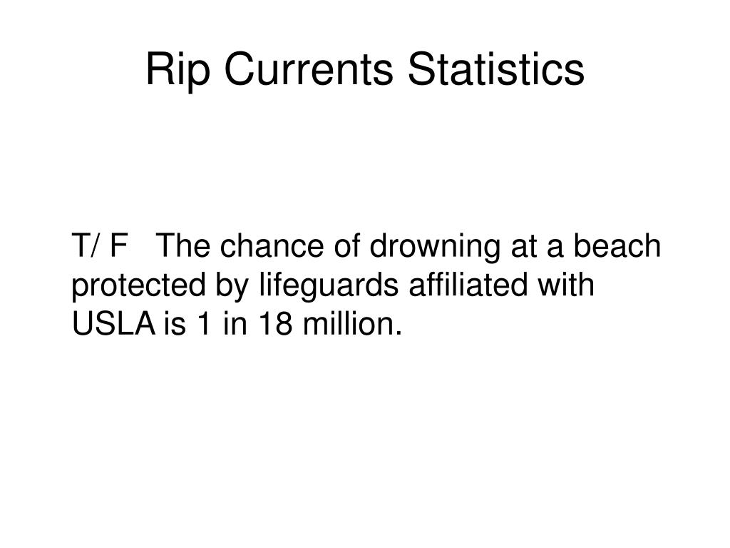 Rip Currents Statistics