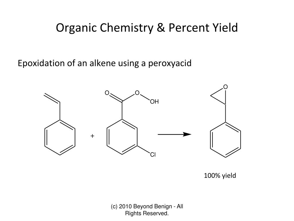 how to find the percent yield in chemistry