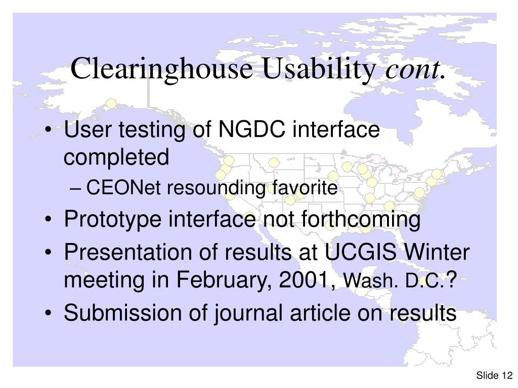 Clearinghouse Usability