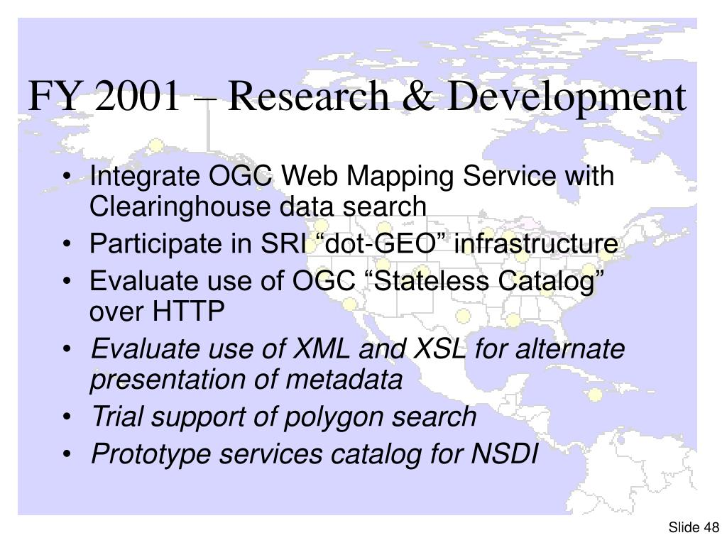 FY 2001 – Research & Development