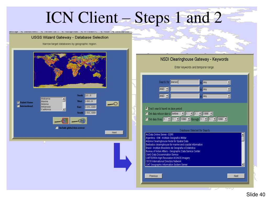 ICN Client – Steps 1 and 2