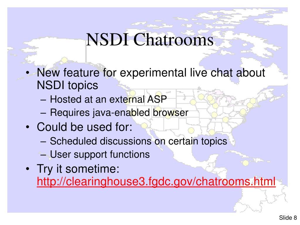 NSDI Chatrooms