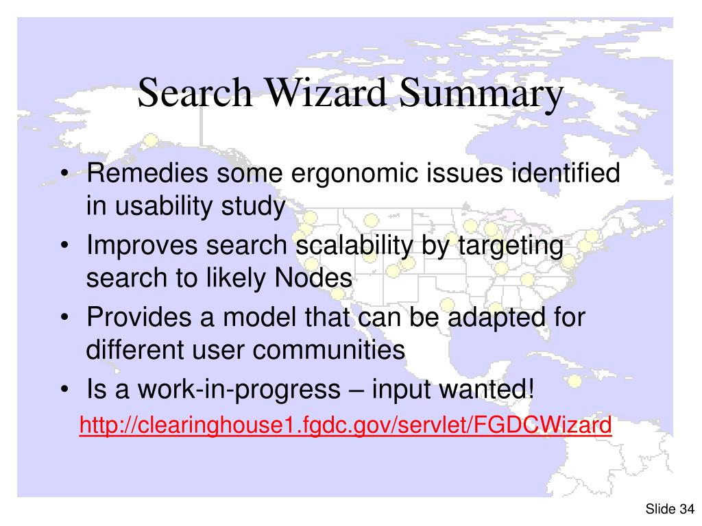 Search Wizard Summary